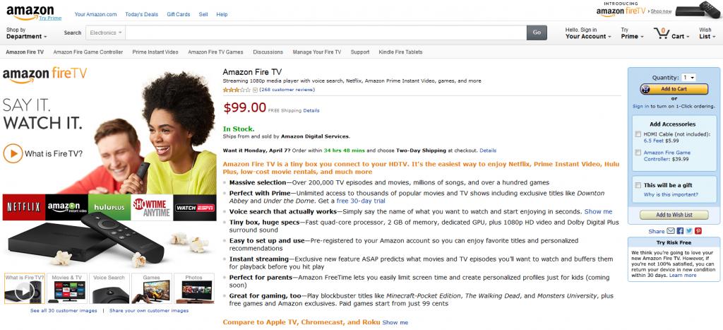 Amazon Fire TV – Die Streaming Box für´s Wohnzimmer
